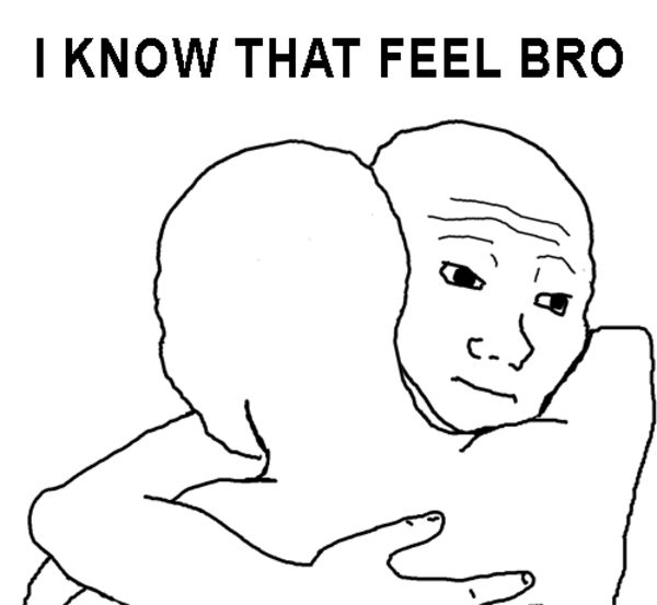 Awesome hug meme