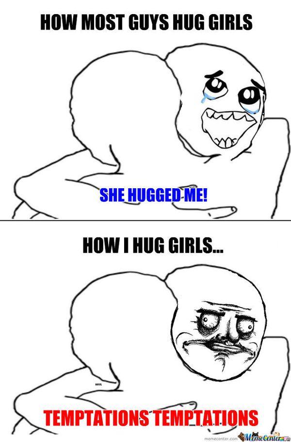 Spectacular hug meme