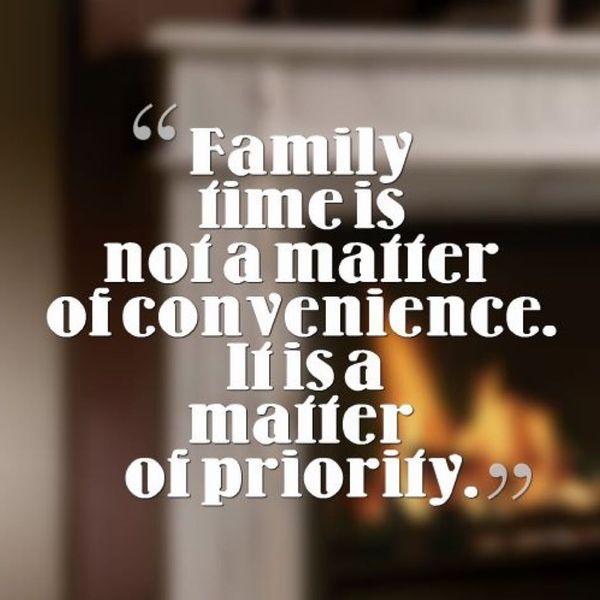Семейное время не имеет значения.