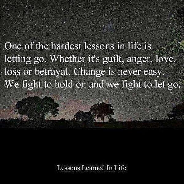 Один из самых тяжелых уроков в жизни - это отпускать.