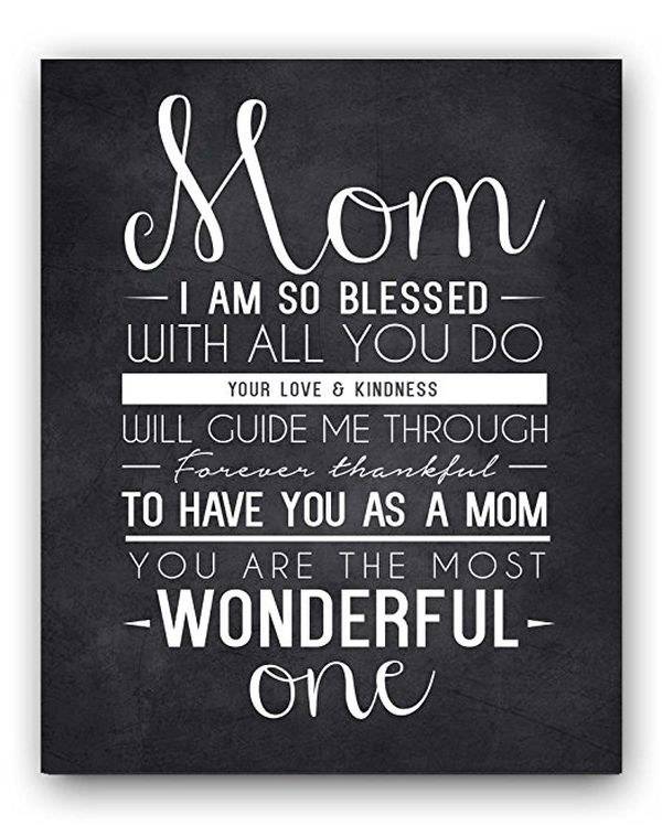 Mom Quote Sign