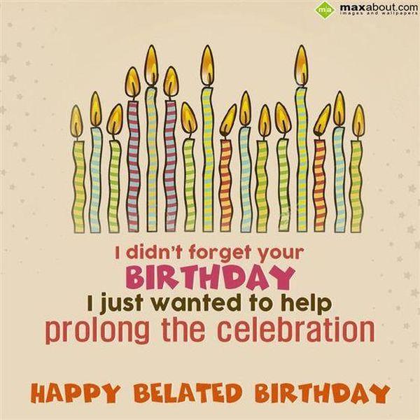 Fun congratulations on her late birthday 1