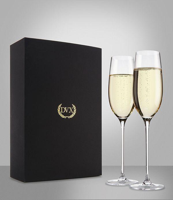 Excelsior Handmade Crystal Champagne Flutes