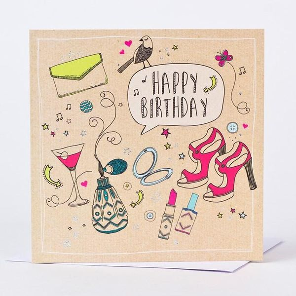 Bright images of greeting cards for her 1