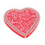 Red Rose Heart Brooch