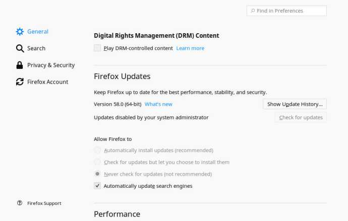 Disable DRM Firefox