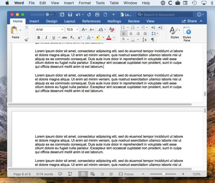 Split Word Document