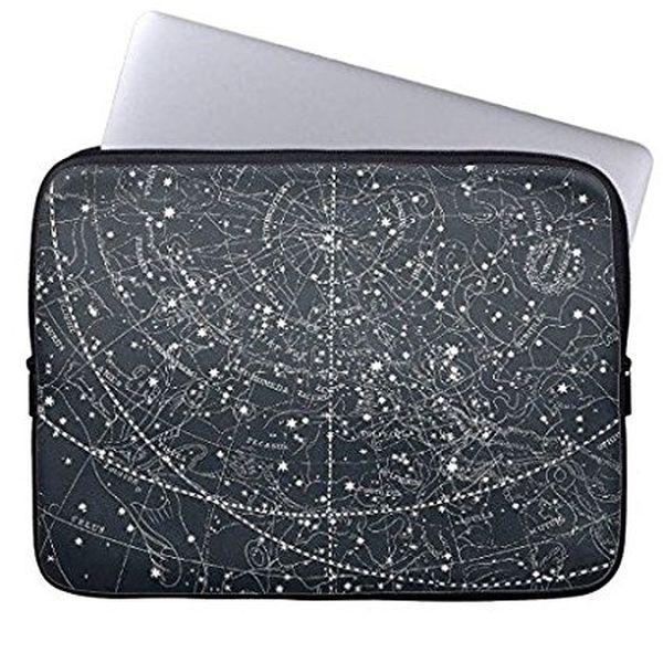 Vintage Neoprene Laptop Sleeve with Constellation Map