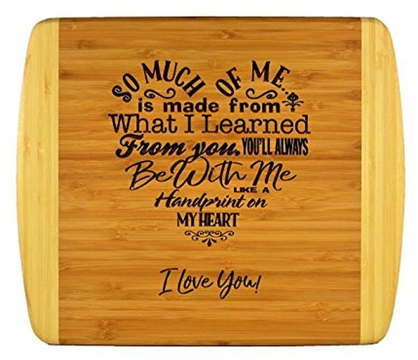 Cutting Board with Engraved Poem