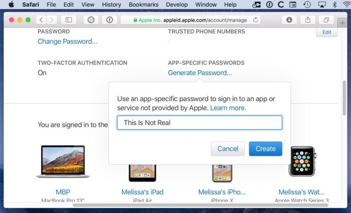 Name Password Window
