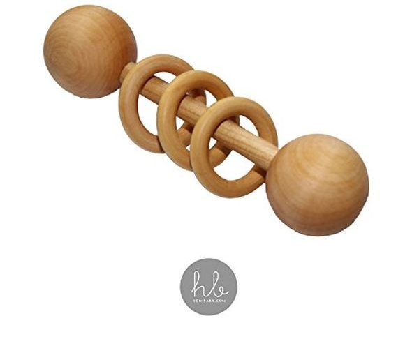 Organic Wood Montessori Styled Baby Rattle by Homi Baby