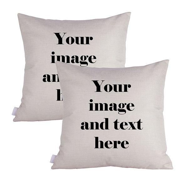 Queenie Customized heavy cotton linen pillow