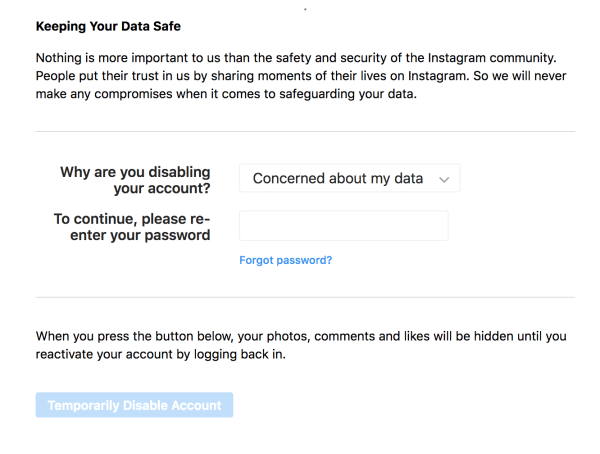 How To Permanently Delete your Instagram Account – 2019