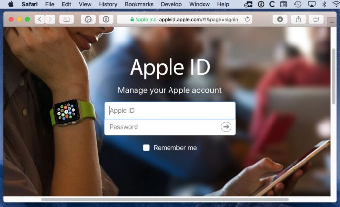 Apple ID Sign-in Page