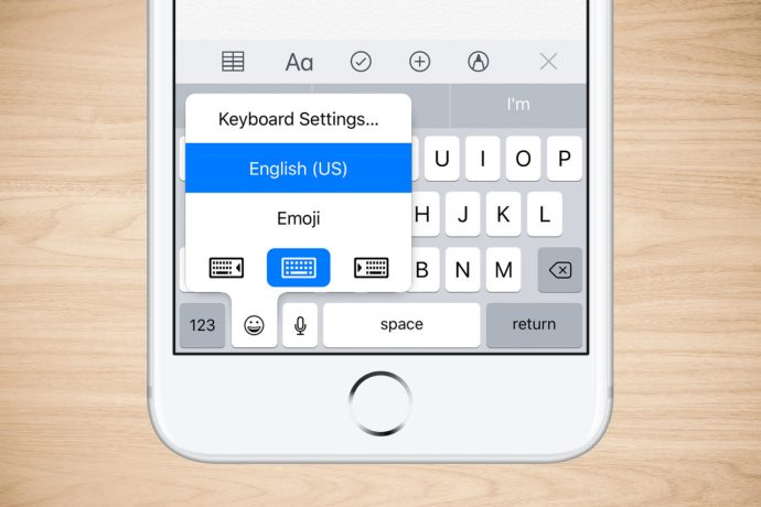 iphone one handed keyboard
