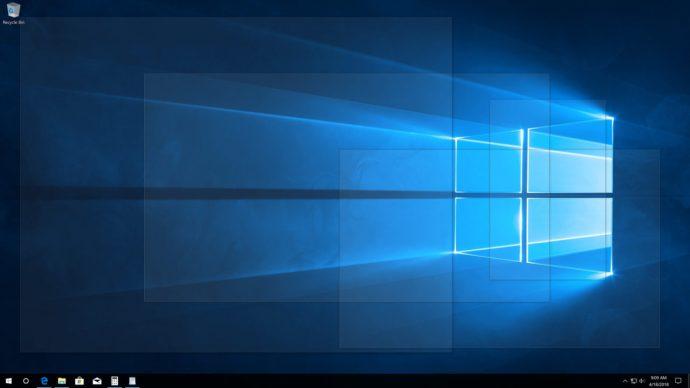windows 10 peek