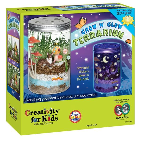 Creativity for Kids Grow n Glow Terrarium Science Kit for Kids
