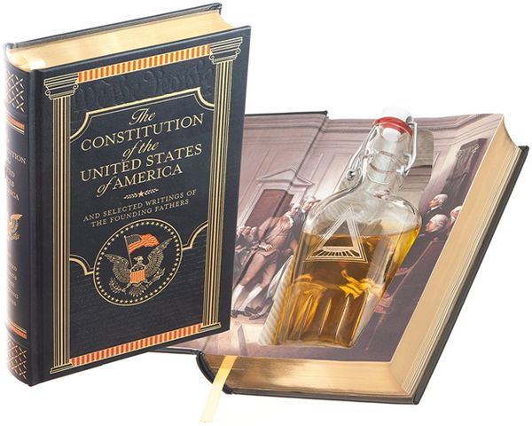 Flask Hollow Book - The Constitution of the United States of America