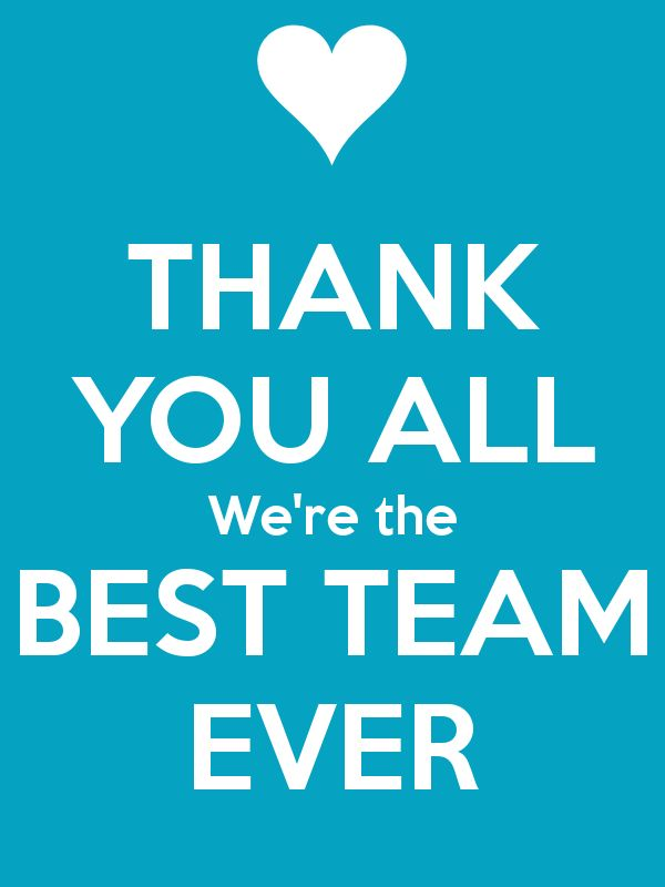 Amazing Friendly Images of Thank You Saying Devoted to Your Team