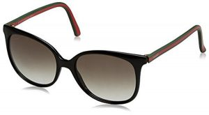 Gucci Sunglasses (Shiny Black Frame, Green Gradient Lens)
