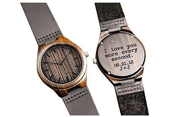 Kedera Wood Engraved Watch