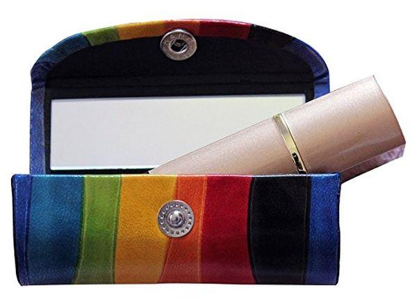 Leather Lipstick Case Holder