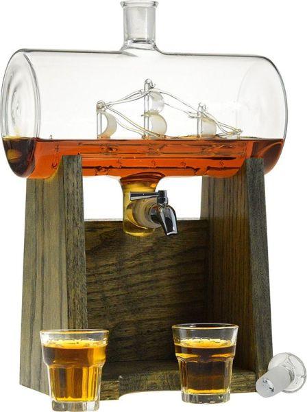 Liquor Decanter Scotch Whiskey Decanter 1150ml Dispenser for Alcohol