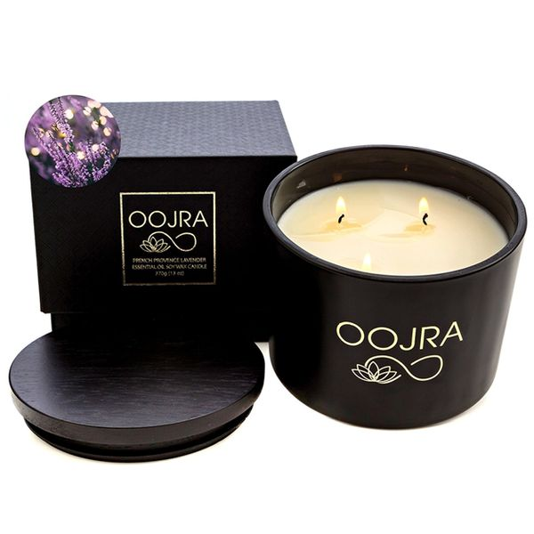 OOJRA Essential Oil Lavender Scented Soy Wax Candle