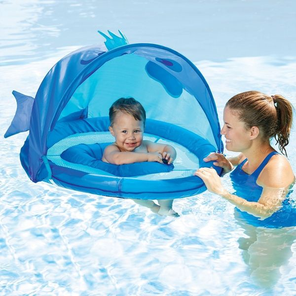 SwimSchool ET9013B Fun Fish Fabric Baby Boat Blue