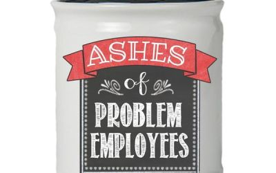 Tumbleweed Ashes of Problem Employees Jar