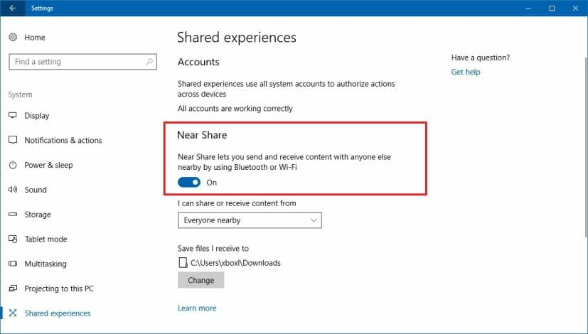 How To Use Windows 10's Nearby Sharing