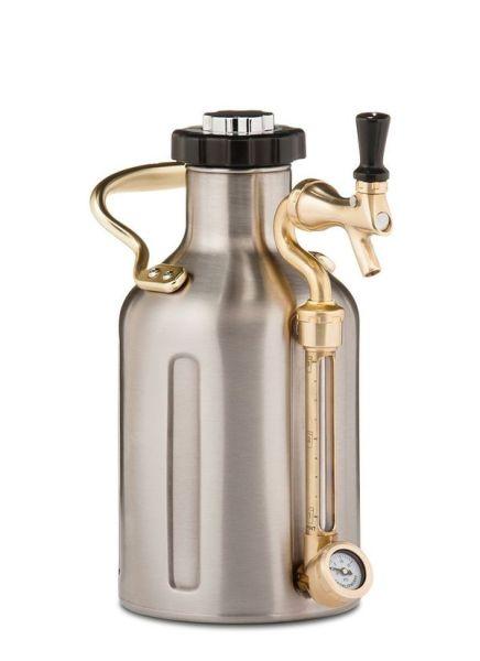 uKeg 64 Pressurized Growler for Craft Beer Stainless Steel