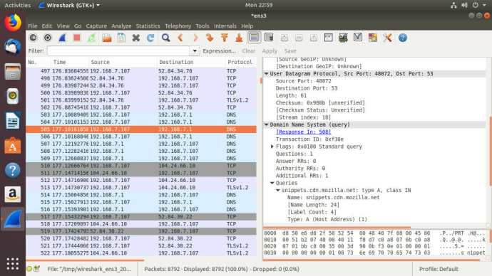 Wireshark Packet Info