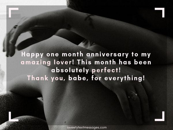 Sweet Quotes for One Month Anniversary
