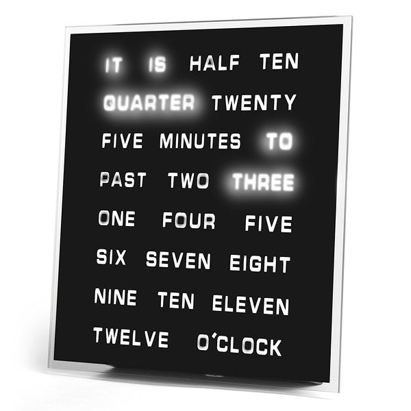 LED Word Clock 8 x 8 Displays Time as Text