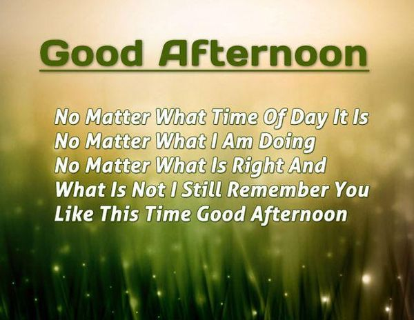 Good Afternoon Quotes To Make The Day Successful