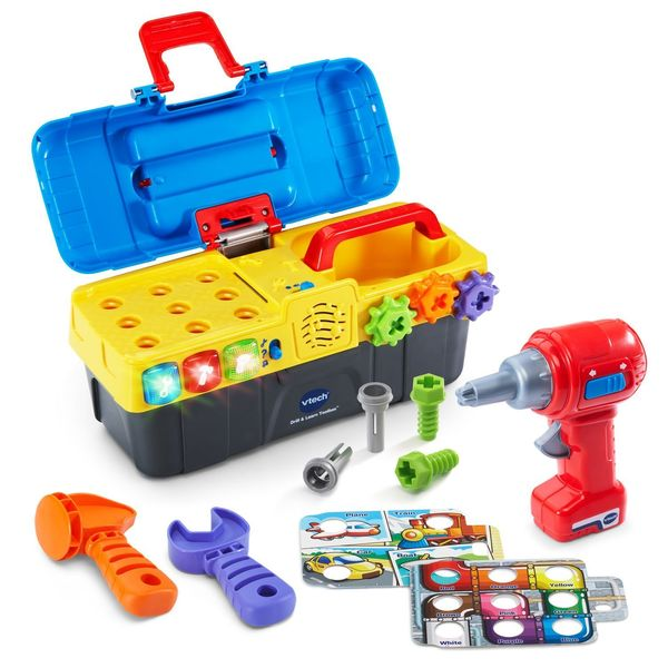 Child toolbox is one of those cool toys for 2 year old boy