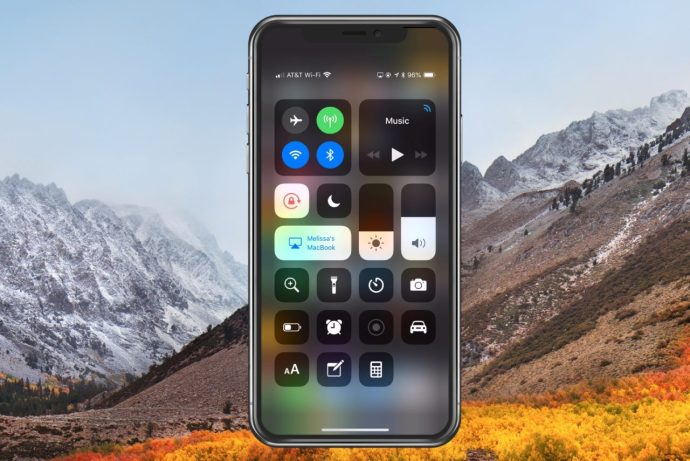 Control Center on iPhone