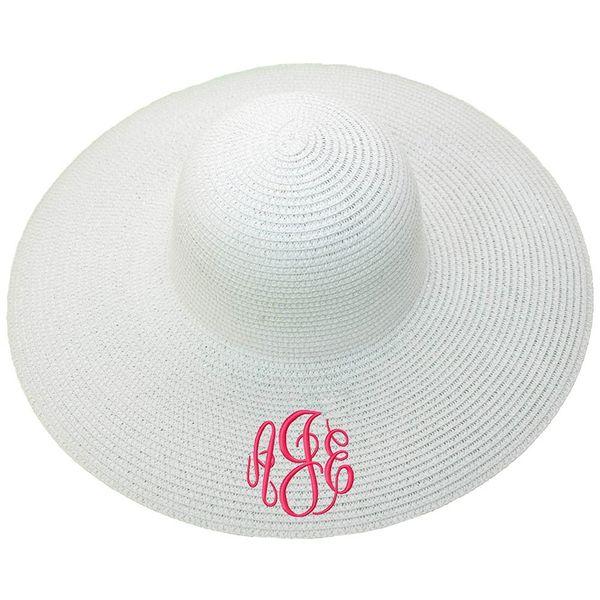 Personalized Wide Brim Floppy Sun Beach Pool Hat