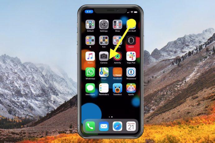 control center swipe iphone x