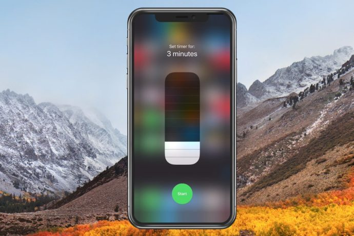 Timer Options in Control Center