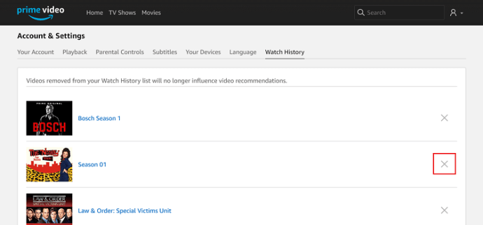 How To Edit or Remove from the Amazon Video Recently Watched