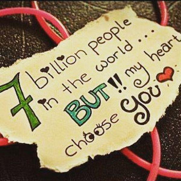 7 billion people in the world ...