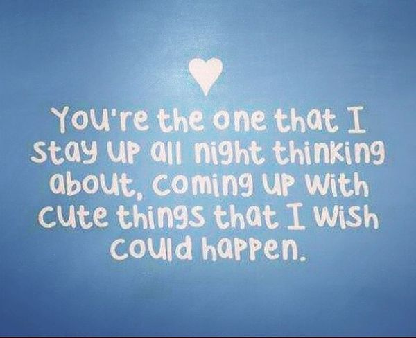 You're the one I'm not sleeping with all night ...