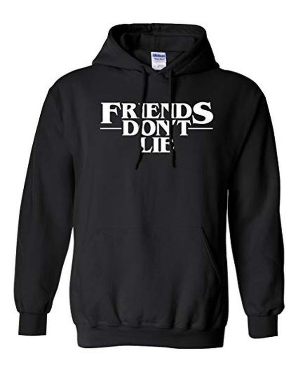 NuffSaid Strange Friends Dont Lie Premium Hoodie