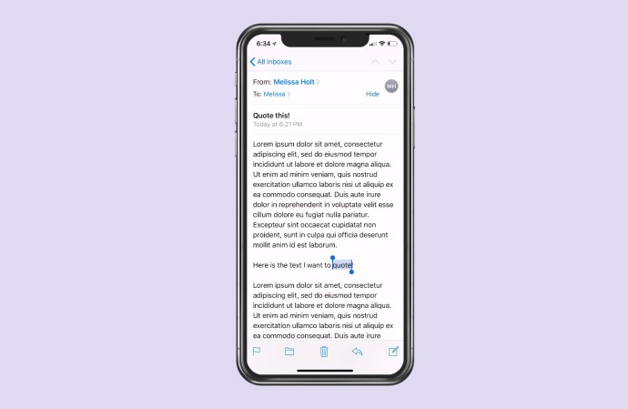 Tapping to Select Text on iPhone