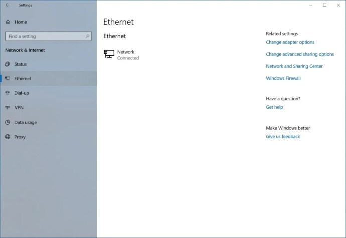 ethernet public network windows 10
