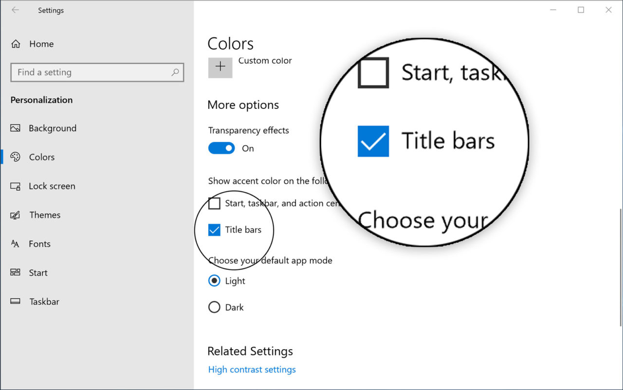 How to Enable Title Bar Color for Desktop Apps in Windows 10