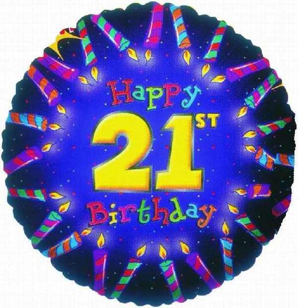 Amazing graphic graphics for the 21st birthday