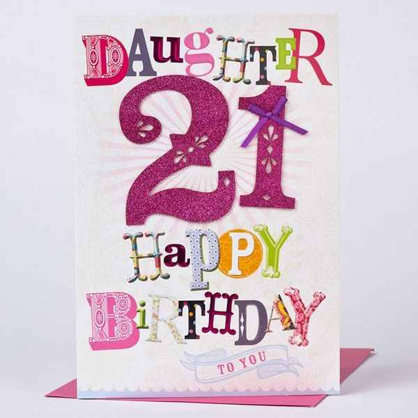 Colorful Happy 21st Birthday Images for Her
